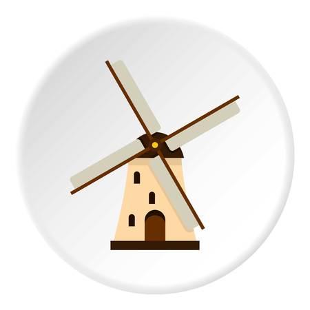 Windmill icon circle