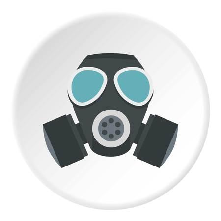 Army gas mask icon circle