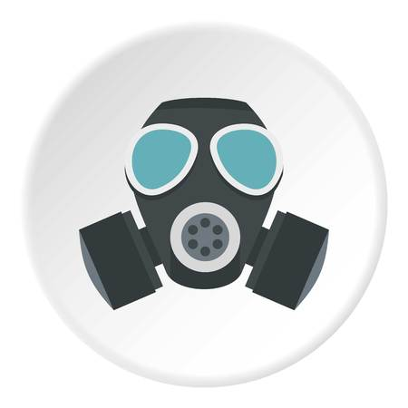 Army gas mask icon circle