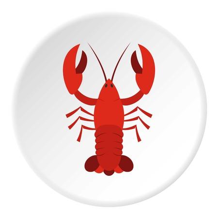 Red crayfish icon circle