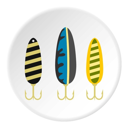 Fishing lure icon circle Illustration
