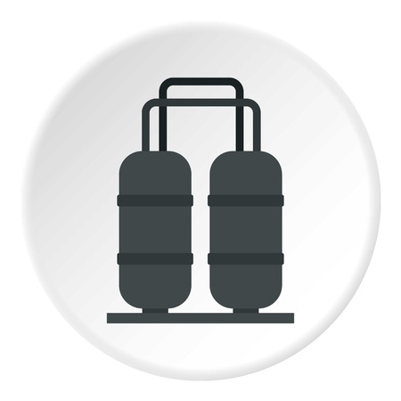 Oil processing factory icon circle