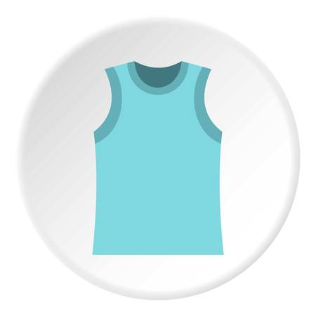 Singlet icon in flat circle isolated vector illustration for web