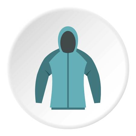Sweatshirt icon in flat circle isolated vector illustration for web