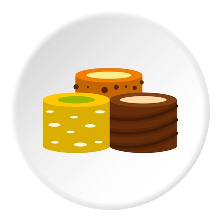 marmalade: Turkish delights icon in flat circle isolated vector illustration for web