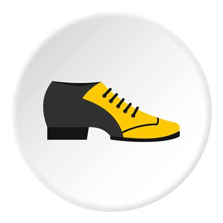Male tango shoe icon in flat circle isolated vector illustration for web