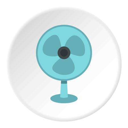 Ventilator icon in flat circle isolated vector illustration for web Illustration