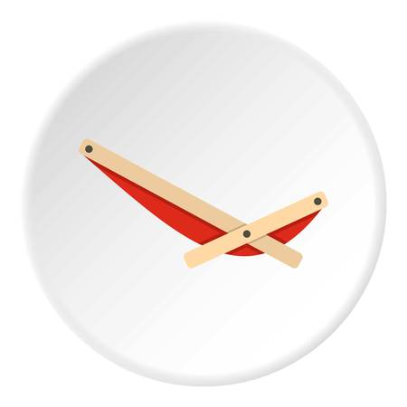 Recliner icon in flat circle isolated vector illustration for web