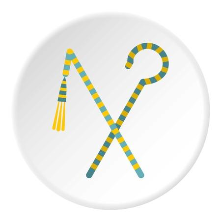 Pharaoh symbols icon circle Illustration