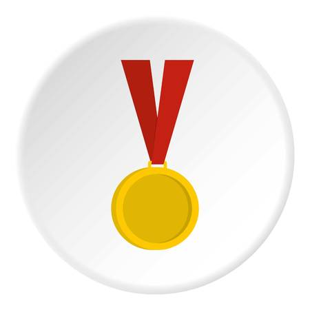 Gold medal icon circle
