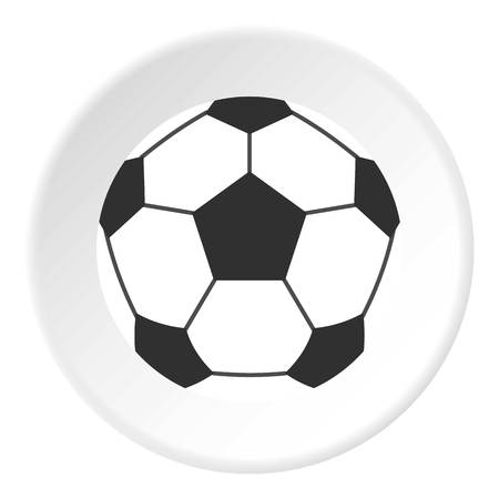 penalty: Leather soccer ball icon circle