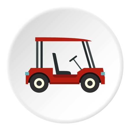 Red golf cart icon circle