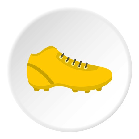 Football or soccer shoe icon circle