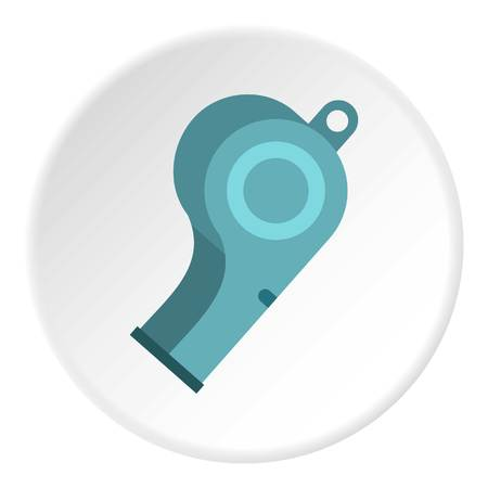 Blue sport whistle icon circle