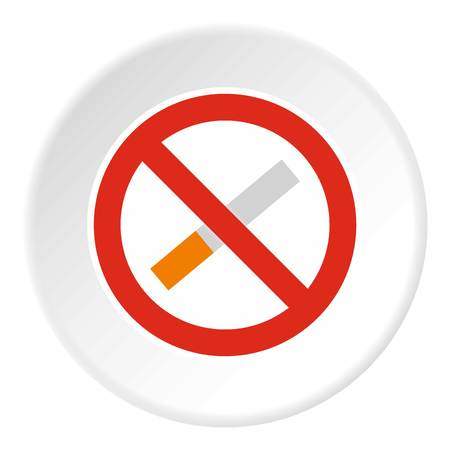No smoking icon circle Illustration