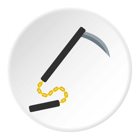 Kusarigama, Japanese  weapon icon circle