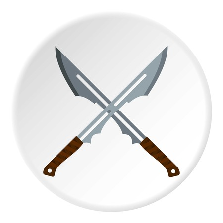 Japanese short swords icon circle Illustration