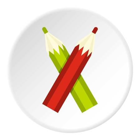 writing instruments: Pencils icon circle