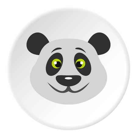 endanger: Head of panda bear icon circle
