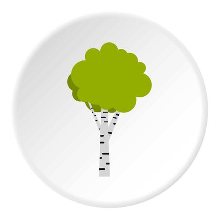 Birch icon in flat circle isolated vector illustration for web Illustration