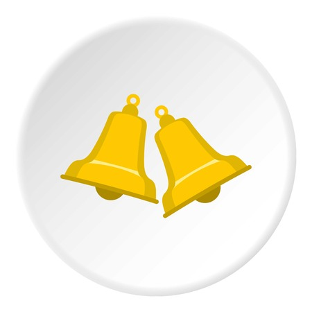 reflectance: Bells icon in flat circle isolated vector illustration for web Illustration