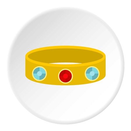 Vintage gold bangle icon in flat circle isolated vector illustration for web Illustration