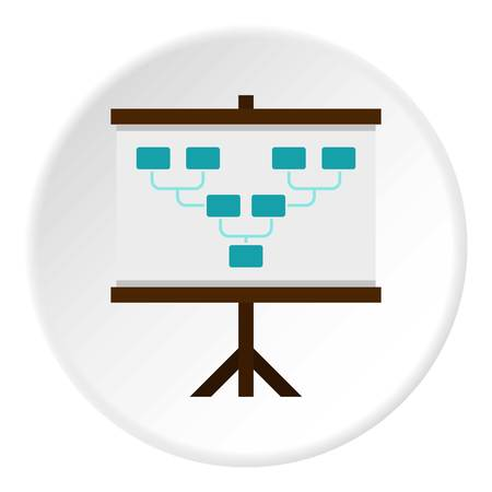 tactics: Board with team formation icon in flat circle isolated vector illustration for web