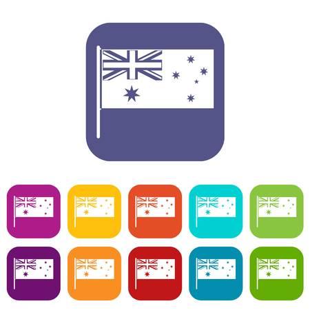 호주 깃발 아이콘은 평평하게 설정
