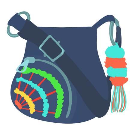 Teenage school backpack icon. Cartoon illustration of teenage school backpack vector icon for web isolated on white background