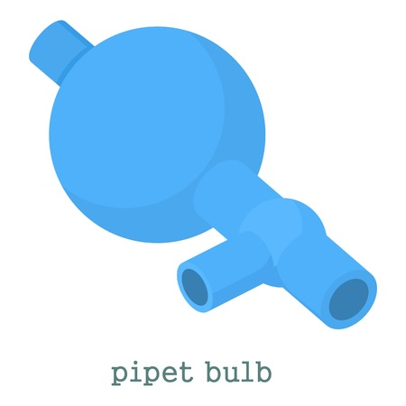 Pipet bulb icon. Cartoon illustration of pipet bulb vector icon for web isolated on white background Illustration