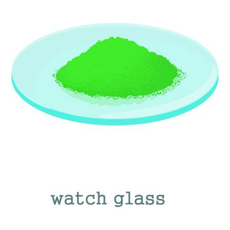 inspect: Watch glass icon. Cartoon illustration of watch glass vector icon for web isolated on white background