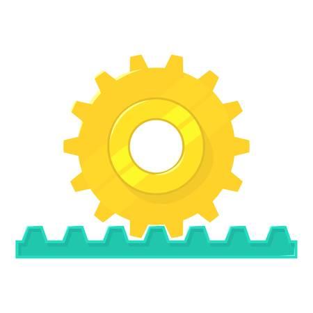 Icône de pignon de crémaillère. Illustration de bande dessinée de l'icône de vecteur de pignon rack pour web isolé sur fond blanc Banque d'images - 81510681