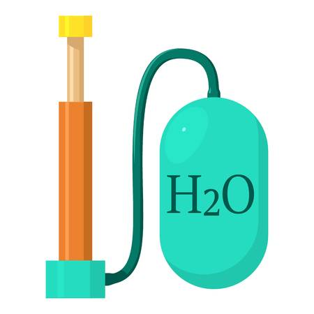 Oxygen pump icon, cartoon style