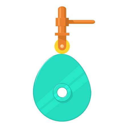 reciprocate: Cam mechanism icon, cartoon style