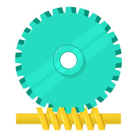 Helical Gear icon, cartoon style