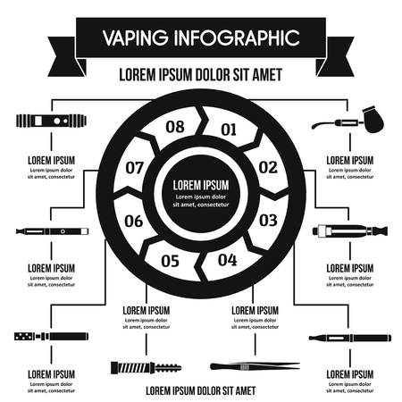 Vaping infographic banner concept. Simple illustration of vaping infographic vector poster concept for web Illustration