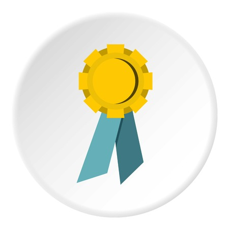 Champion medal icon circle
