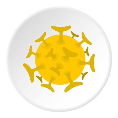 Round viral bacteria icon circle Illustration
