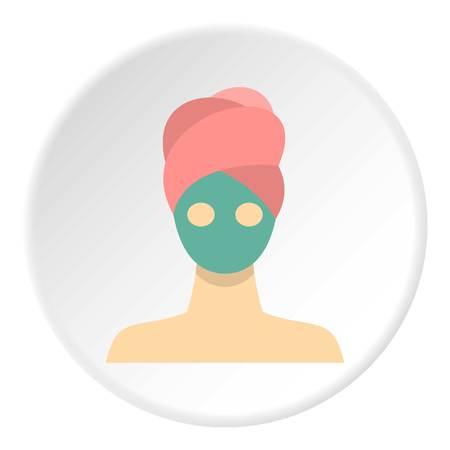 Spa facial clay mask icon circle