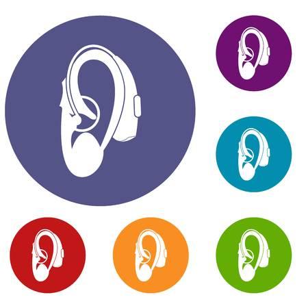 hearing aid: Hearing aid icons set