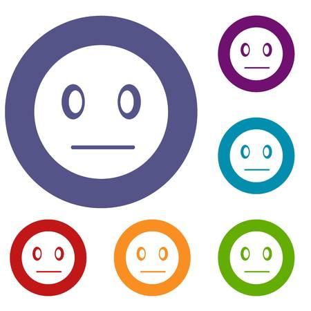 Suspicious emoticons set