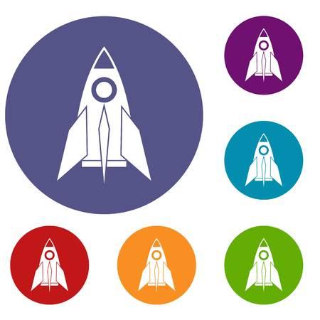 Rocket icons set Illustration