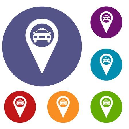 geo: Geo taxi icons set