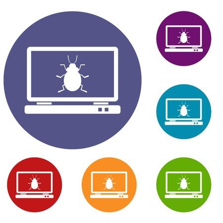 menace: Laptop icons set