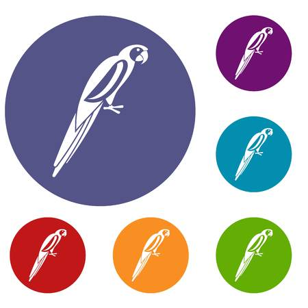 aviary: Parrot icons set