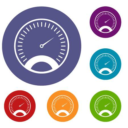 Speedometer icons set