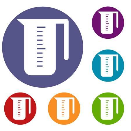 quantity: Measuring cup icons set