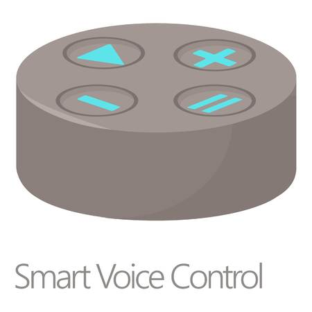 personal assistant: Smart voice control icon, cartoon style Illustration