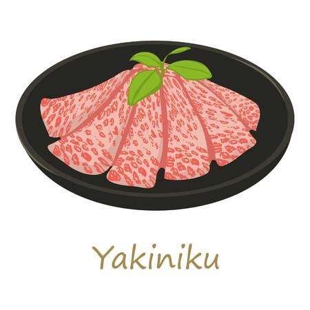 Yakiniku icon, cartoon style
