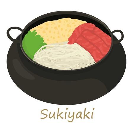 Sukiyaki icon, cartoon style